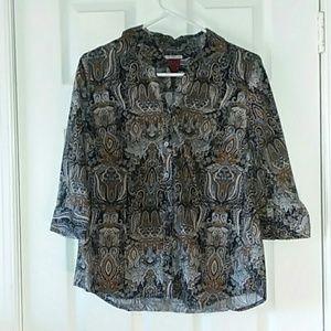 212 Collection Paisley print shirt size Medium